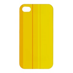 Yellow Lines Apple Iphone 4/4s Hardshell Case by Valentinaart