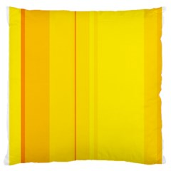 Yellow Lines Large Cushion Case (one Side) by Valentinaart