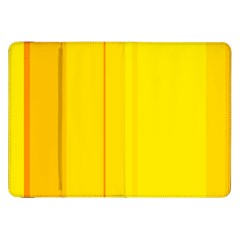 Yellow Lines Samsung Galaxy Tab 8 9  P7300 Flip Case by Valentinaart