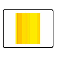 Yellow Lines Double Sided Fleece Blanket (small)  by Valentinaart