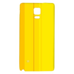 Yellow Lines Galaxy Note 4 Back Case by Valentinaart