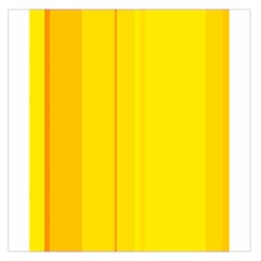 Yellow Lines Large Satin Scarf (square) by Valentinaart