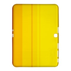 Yellow Lines Samsung Galaxy Tab 4 (10 1 ) Hardshell Case  by Valentinaart