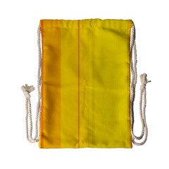 Yellow Lines Drawstring Bag (small) by Valentinaart
