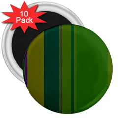 Green Elegant Lines 3  Magnets (10 Pack)  by Valentinaart