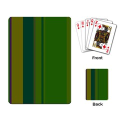 Green Elegant Lines Playing Card by Valentinaart