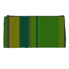 Green Elegant Lines Pencil Cases by Valentinaart