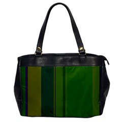 Green Elegant Lines Office Handbags