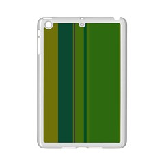 Green Elegant Lines Ipad Mini 2 Enamel Coated Cases by Valentinaart