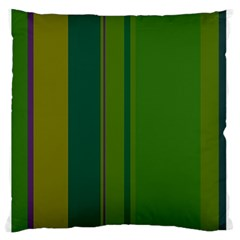 Green Elegant Lines Large Flano Cushion Case (two Sides) by Valentinaart