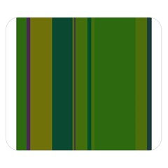Green Elegant Lines Double Sided Flano Blanket (small)  by Valentinaart