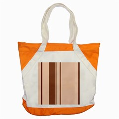 Elegant Brown Lines Accent Tote Bag by Valentinaart