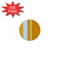 Yellow Elegant Lines 1  Mini Buttons (100 Pack)  by Valentinaart