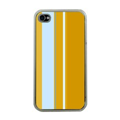 Yellow Elegant Lines Apple Iphone 4 Case (clear) by Valentinaart