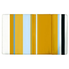 Yellow Elegant Lines Apple Ipad 2 Flip Case by Valentinaart