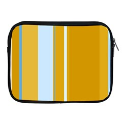 Yellow Elegant Lines Apple Ipad 2/3/4 Zipper Cases by Valentinaart
