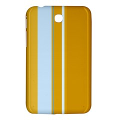 Yellow Elegant Lines Samsung Galaxy Tab 3 (7 ) P3200 Hardshell Case  by Valentinaart