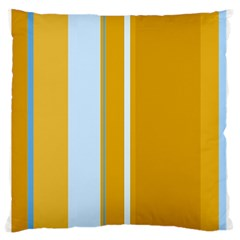 Yellow Elegant Lines Large Flano Cushion Case (one Side) by Valentinaart