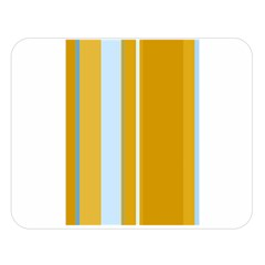 Yellow Elegant Lines Double Sided Flano Blanket (large)  by Valentinaart