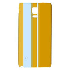 Yellow Elegant Lines Galaxy Note 4 Back Case by Valentinaart