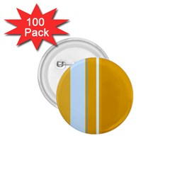 Yellow Elegant Lines 1 75  Buttons (100 Pack)  by Valentinaart