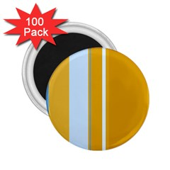 Yellow Elegant Lines 2 25  Magnets (100 Pack)  by Valentinaart