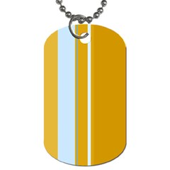 Yellow Elegant Lines Dog Tag (two Sides) by Valentinaart
