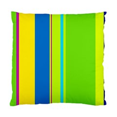 Colorful Lines Standard Cushion Case (two Sides) by Valentinaart