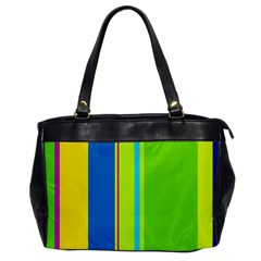 Colorful Lines Office Handbags by Valentinaart