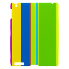 Colorful Lines Apple Ipad 3/4 Hardshell Case by Valentinaart