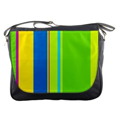 Colorful Lines Messenger Bags by Valentinaart