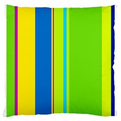Colorful Lines Large Cushion Case (one Side) by Valentinaart