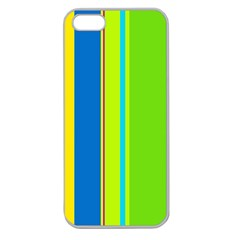 Colorful Lines Apple Seamless Iphone 5 Case (clear) by Valentinaart