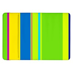 Colorful Lines Samsung Galaxy Tab 8 9  P7300 Flip Case by Valentinaart