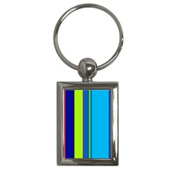 Blue And Green Lines Key Chains (rectangle)  by Valentinaart