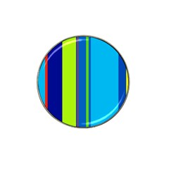 Blue And Green Lines Hat Clip Ball Marker (10 Pack) by Valentinaart
