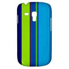 Blue And Green Lines Samsung Galaxy S3 Mini I8190 Hardshell Case by Valentinaart