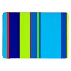 Blue And Green Lines Samsung Galaxy Tab 8 9  P7300 Flip Case by Valentinaart