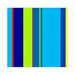 Blue And Green Lines Double Sided Flano Blanket (small)  by Valentinaart