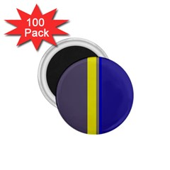 Blue And Yellow Lines 1 75  Magnets (100 Pack)  by Valentinaart