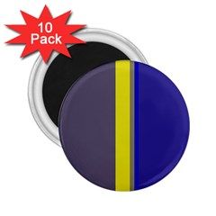 Blue And Yellow Lines 2 25  Magnets (10 Pack)  by Valentinaart