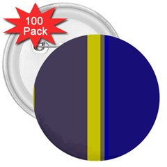 Blue And Yellow Lines 3  Buttons (100 Pack)  by Valentinaart