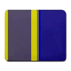 Blue And Yellow Lines Large Mousepads by Valentinaart