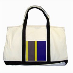 Blue And Yellow Lines Two Tone Tote Bag by Valentinaart