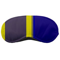 Blue And Yellow Lines Sleeping Masks by Valentinaart