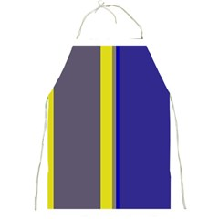 Blue And Yellow Lines Full Print Aprons by Valentinaart
