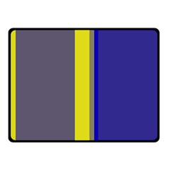 Blue And Yellow Lines Fleece Blanket (small) by Valentinaart