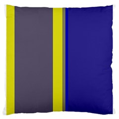 Blue And Yellow Lines Large Cushion Case (one Side) by Valentinaart