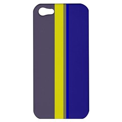 Blue And Yellow Lines Apple Iphone 5 Hardshell Case by Valentinaart