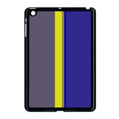 Blue And Yellow Lines Apple Ipad Mini Case (black) by Valentinaart